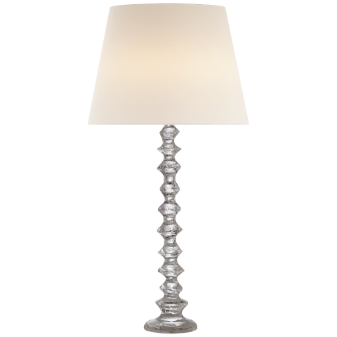 Lilian Table Lamp in Crystal with Linen Shade