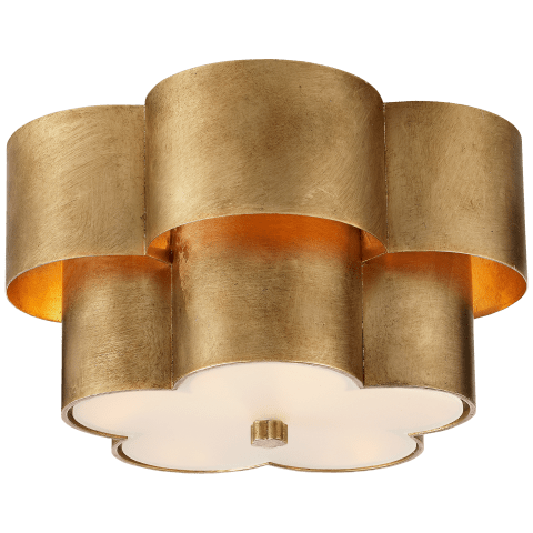 Arabelle Flush Mount in Gild with Frosted Acrylic