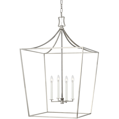 Southold Large Lantern Polished Nickel