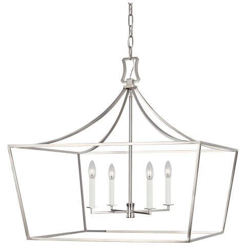Southold 4 - Light Wide Lantern Polished Nickel