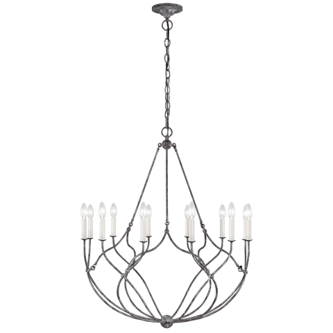 Richmond 12 - Light Chandelier Weathered Galvanized