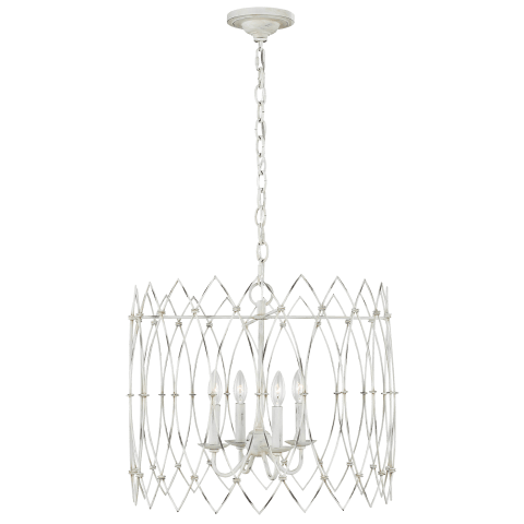 Gardner Medium Chandelier Rustic White