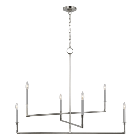 Bayview Large Chandelier Polished Nickel