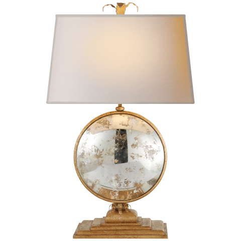 Gramercy Large Console Lamp in Gilded Iron with Natural Paper Shade