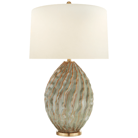 Dianthus Large Table Lamp in Desert Rain with Natural Percale Shade
