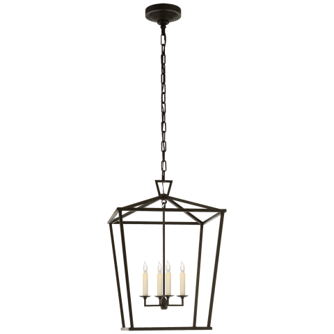 Darlana Medium Lantern in Aged Iron