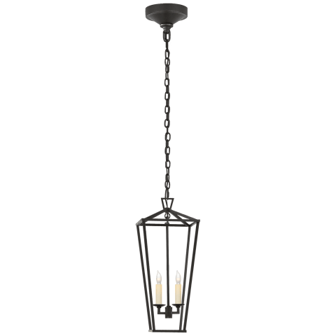 Darlana Medium Tall Lantern in Aged Iron