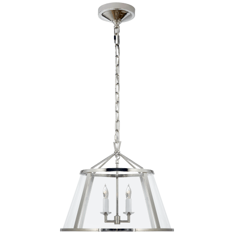 "Darlana 16"" Pendant in Polished Nickel with Clear Glass"