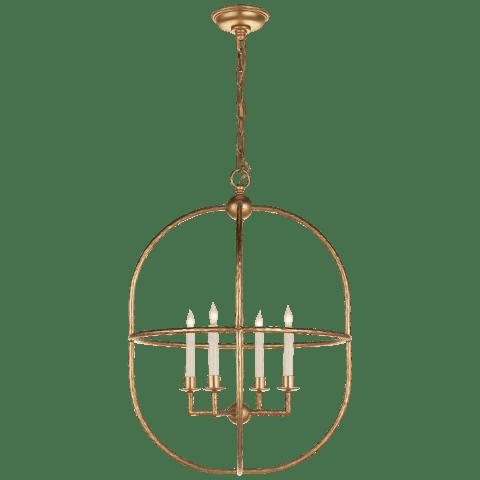 Desmond Open Oval Lantern in Aged Iron