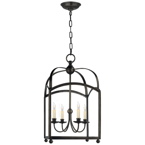 Arch Top Medium Lantern in Bronze
