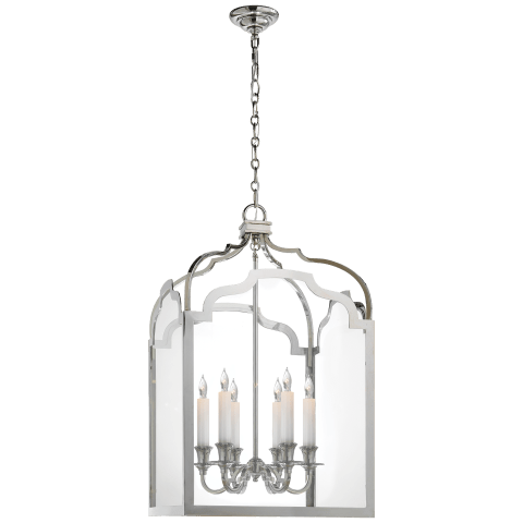 Westminster Medium Lantern in Polished Nickel