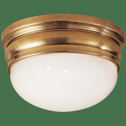 Crown Medium Flush Mount in Antique-Burnished Brass