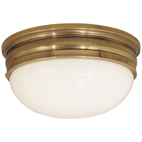 Crown Large Flush Mount in Antique-Burnished Brass