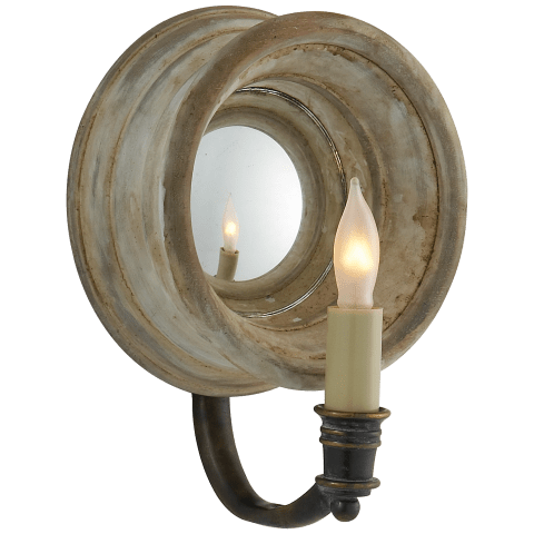Chelsea Small Reflection Sconce in Old White