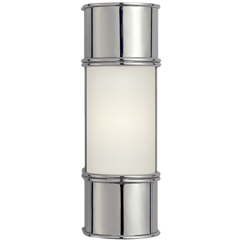 "Oxford 12"" Bath Sconce in Chrome with Frosted Glass"