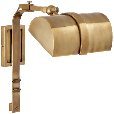 Furness Small Picture Light in Antique-Burnished Brass