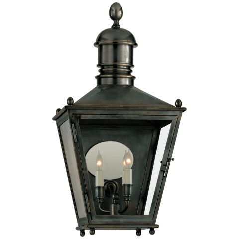 Sussex Medium 3/4 Lantern in Bronze