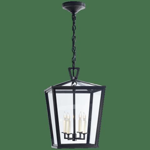 Darlana Small Hanging Lantern in Bronze