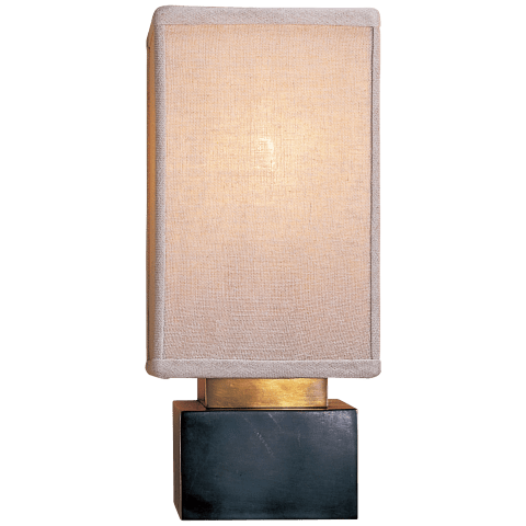 Chelsea Sconce in Bronze with Linen Shade