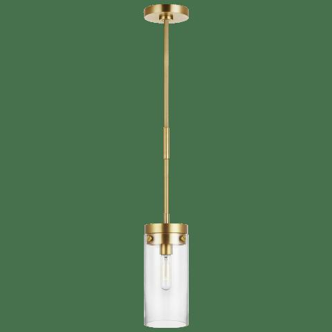 Garrett Medium Cylinder Pendant Burnished Brass