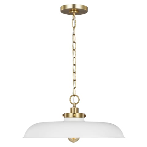Wellfleet Medium Pendant Matte White