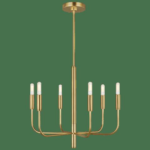 Brianna 6 - Light Chandelier Burnished Brass