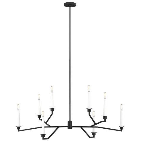Hopton Linear Chandelier Midnight Black