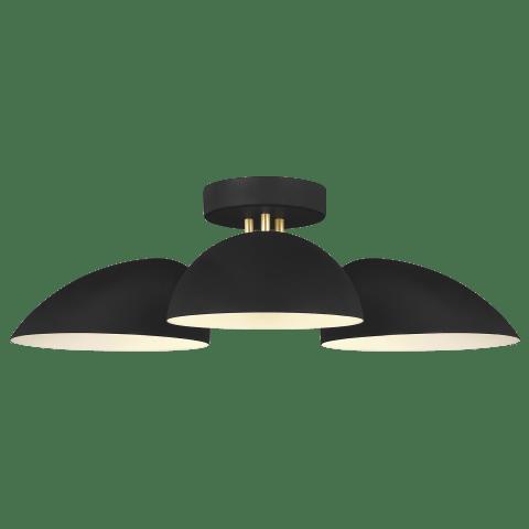 Jane 3 - Light Flush Mount Midnight Black