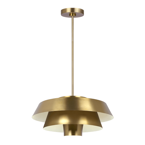 Brisbin Medium 1 - Light Pendant Burnished Brass