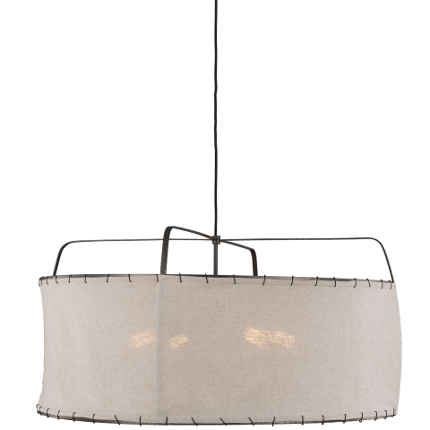 Dunne Wide Pendant Aged Iron
