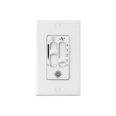 4 - Speed Wall Control with Dimmer Light Switch, White