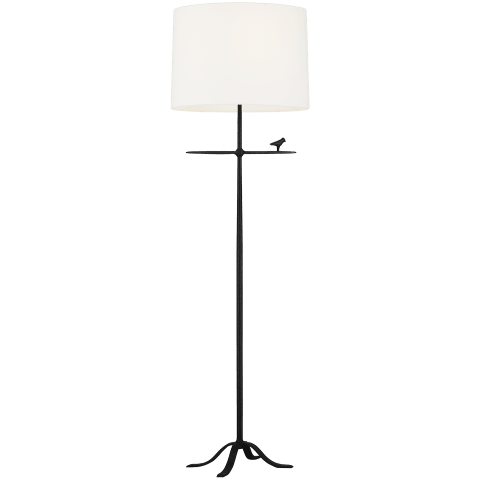Caroline 1 - Light Floor Lamp Aged Iron Bulbs Inc