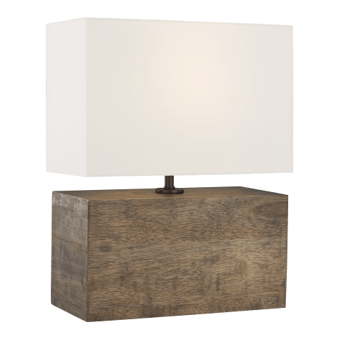 Redmond 1 - Light Table Lamp in Weathered Oak Wood
