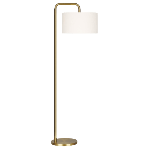 Dean Floor Lamp Burnished Brass Bulbs Inc