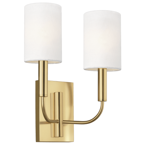 Brianna 2 - Light Wall Sconce Burnished Brass
