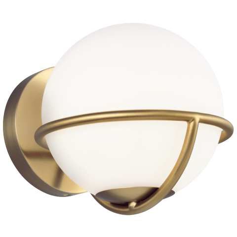 Apollo 1 - Light Wall Sconce Burnished Brass