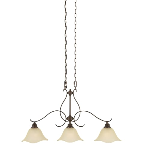 Morningside 3 - Light Island Chandelier Grecian Bronze