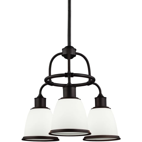 Hobson 3 - Light Chandelier Aged Brass
