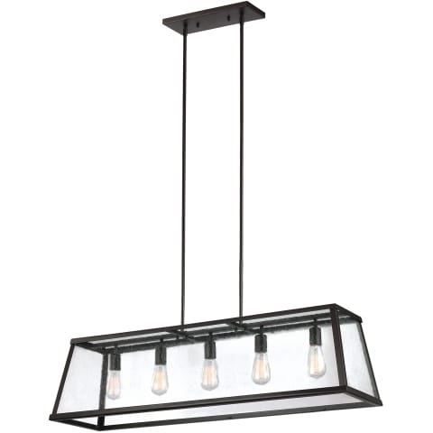 Harrow 5 - Light Island Chandelier Oil Rubbed Bronze