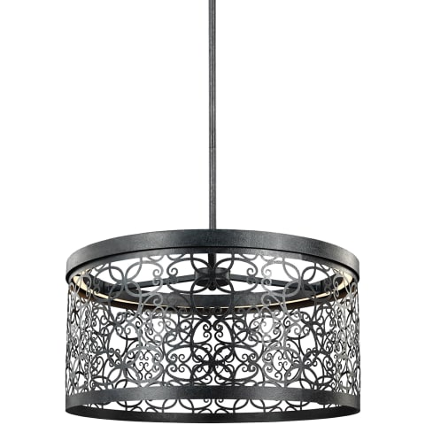 Arramore 19 Inch Outdoor LED Pendant Dark Weathered Zinc Bulbs Inc