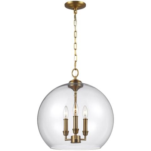Lawler 3 - Light Pendant Burnished Brass