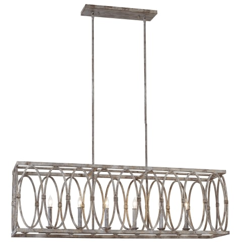 Patrice 6 - Light Linear Chandelier Deep Abyss