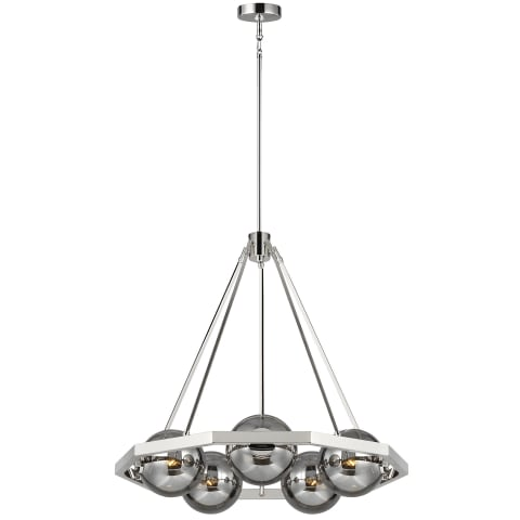 Harper 5 - Light Chandelier Polished Nickel