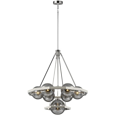 Harper 7 - Light Chandelier Polished Nickel