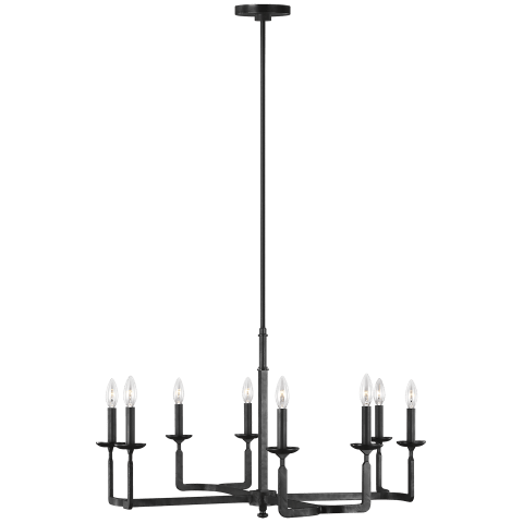 Ansley 8 - Light Chandelier Aged Iron