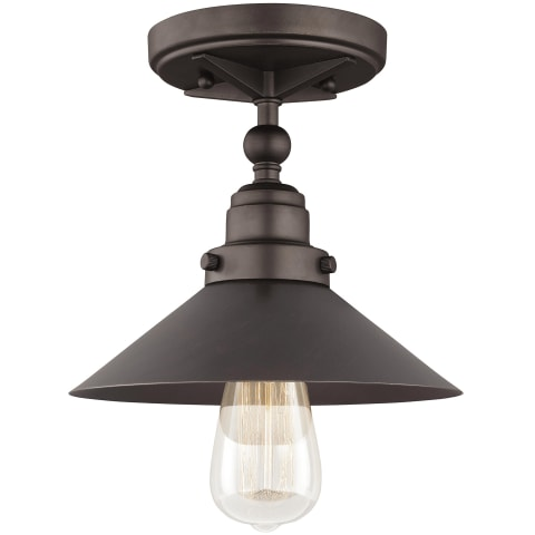 Hooper 1-Light Flushmount Antique Bronze