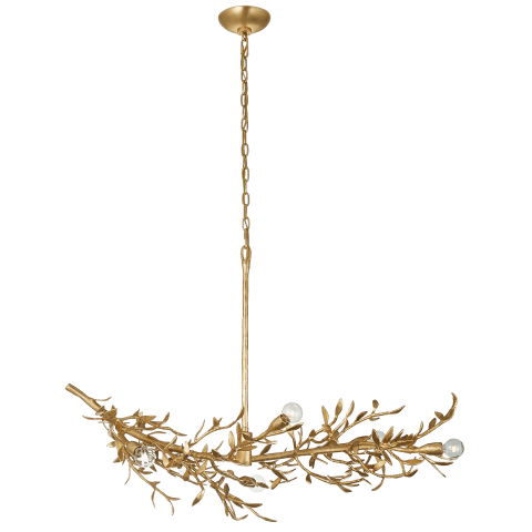 Mandeville Linear Chandelier in Antique Gold Leaf