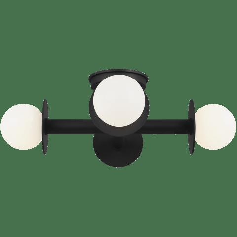 Nodes Semi-Flush Mount Midnight Black