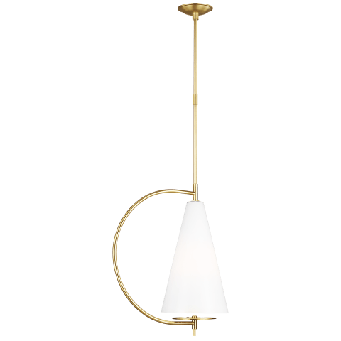 Gesture 1 - Light Tall Pendant Burnished Brass