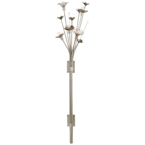Keaton Large Bouquet Sconce in Burnished Silver Leaf